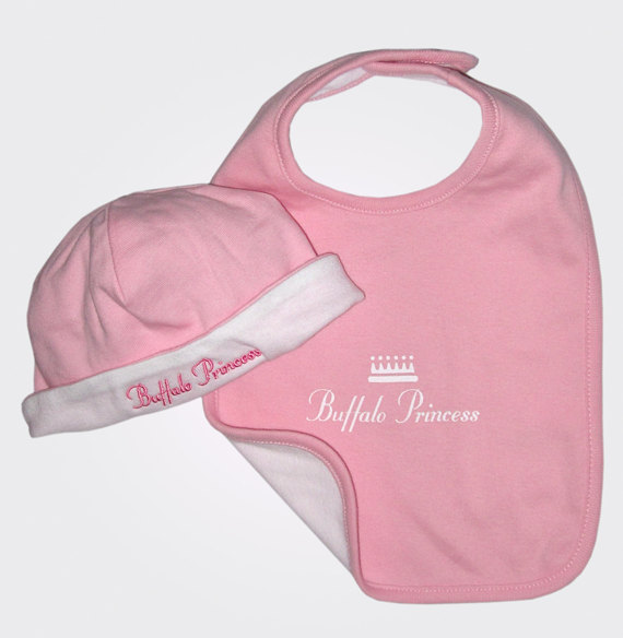 Buffalo Princess Bib and Beanie Set