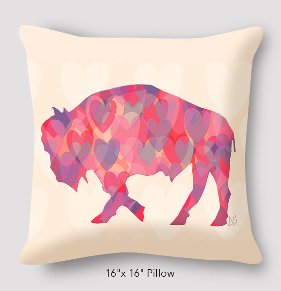 Hearts Pillow by Alison Kurek