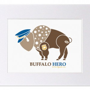 Buffalo Hero Police Art
