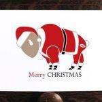 Buffalo Merry Christmas Card