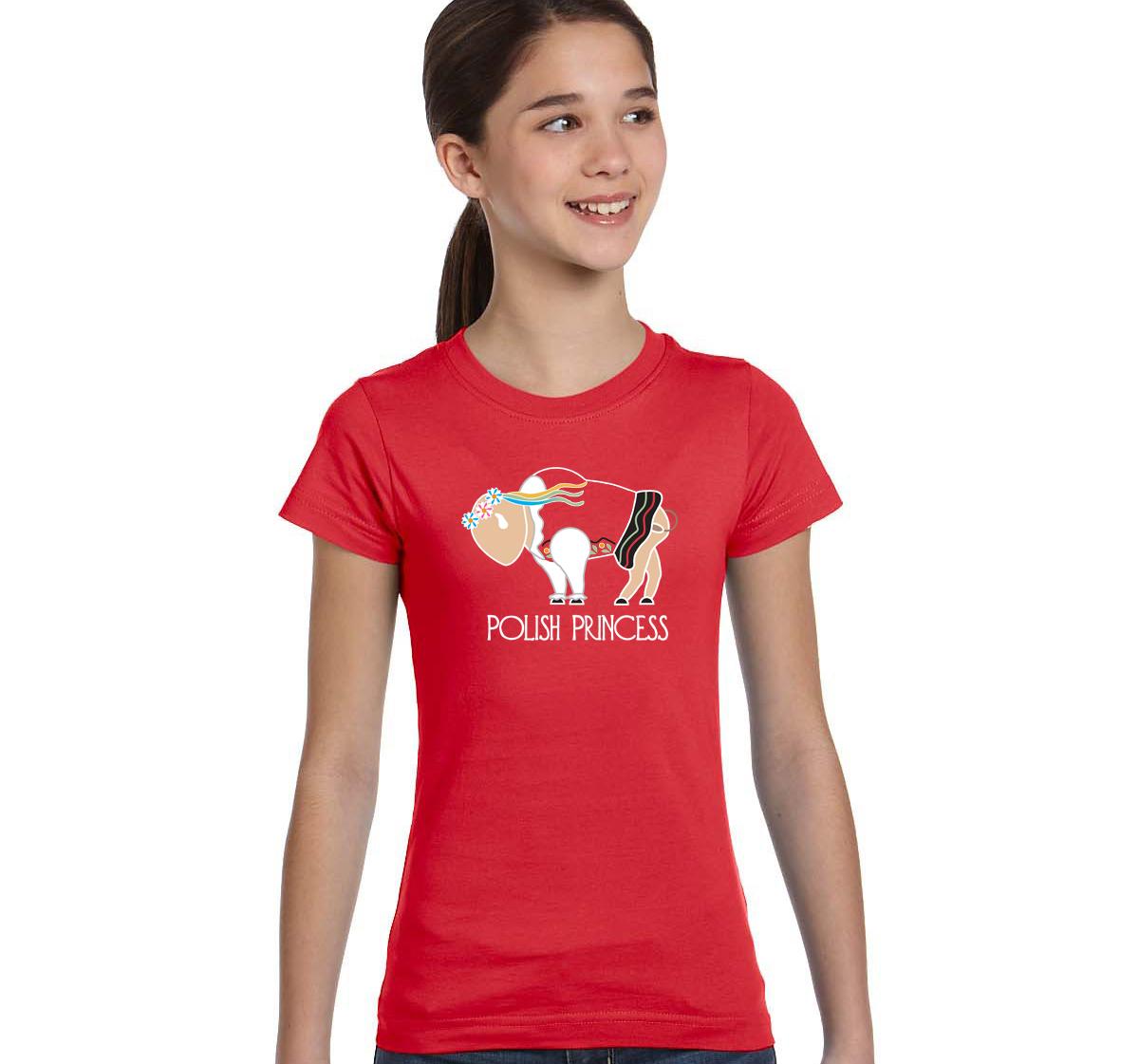 Buffalo polish princess youth t shirt inspired buffalo for Custom t shirts buffalo ny