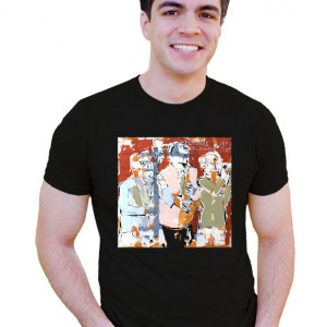 Phil Durgan Horn Section Art Adult tshirt