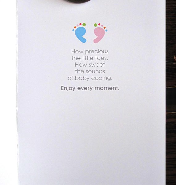 New Baby Congratulations Card - Inside