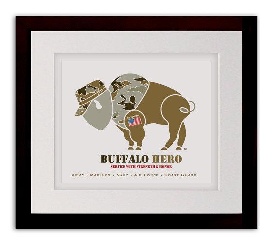 Buffalo Hero Veteran Art