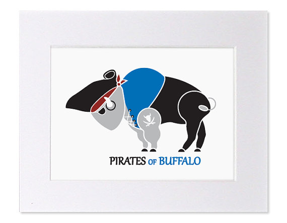 Buffalo Pirate Nursery Art