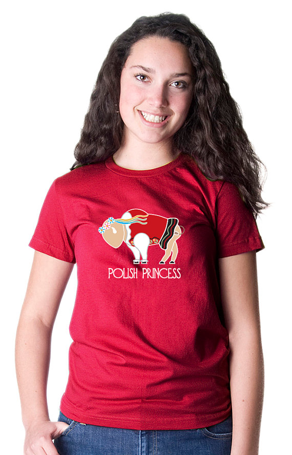 Women 39 s buffalo polish princess t shirt inspired buffalo for Custom t shirts buffalo ny