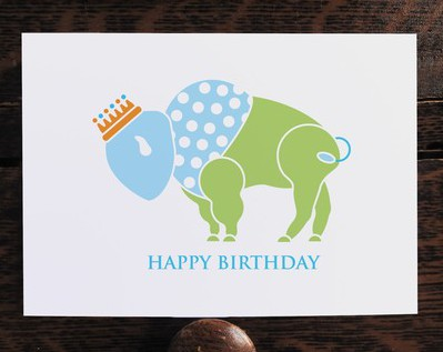 Buffalo Prince Birthday Card Inspired Buffalo