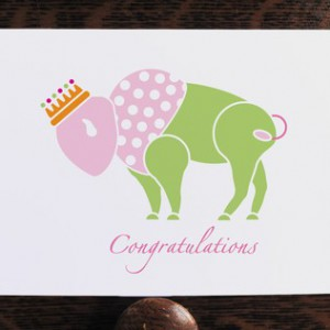 Buffalo Princess Congratulations Card