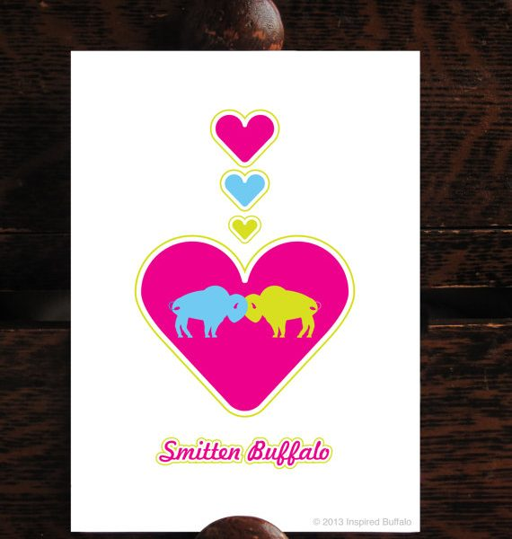 Love Buffalo Art Print