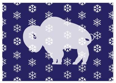 Wintery Buffalo Card