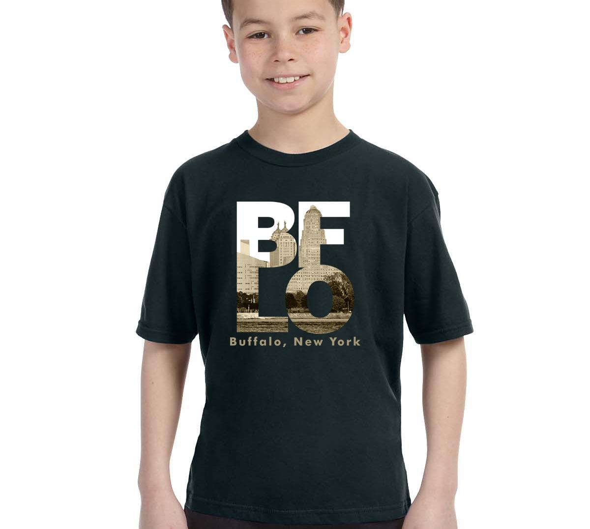 Bflo t shirt for boys by marinette kozlow youth for Custom t shirts buffalo ny