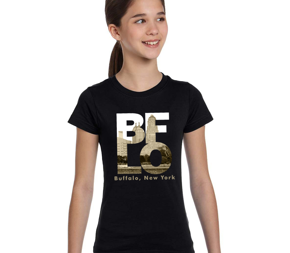 Bflo t shirt by marinette kozlow youth inspired buffalo for Custom t shirts buffalo ny