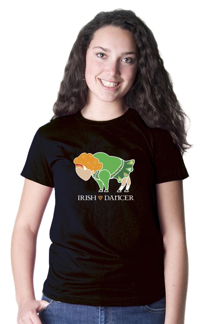 Buffalo irish dancer ladies t shirt by marinette kozlow for Custom t shirts buffalo ny