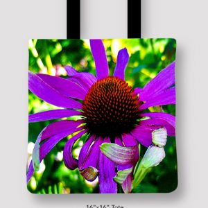 Inspired Buffalo_EileenGraetz_PurpleConeFlower_Tote