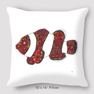 Inspired_Buffalo_Michael_Clarke_Fish_Pillow_16x16