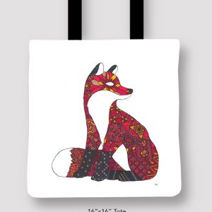 Inspired_Buffalo_Michael_Clarke_Fox_Tote_16x16