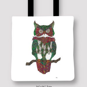 Inspired_Buffalo_Michael_Clarke_Owl_Totes_16x16