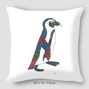 Inspired_Buffalo_Michael_Clarke_Penguin_Pillow_16x16
