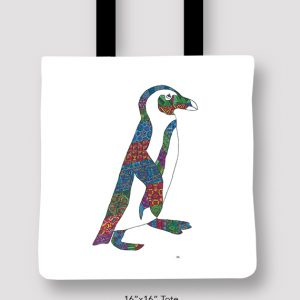 Inspired_Buffalo_Michael_Clarke_Penguin_Tote_16x16