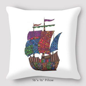 Inspired_Buffalo_Michael_Clarke_Ship_Pillow_16x16