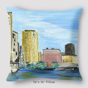 Inspired_Buffalo_Vinny_Alejandro_skyline_Pillow_16x16