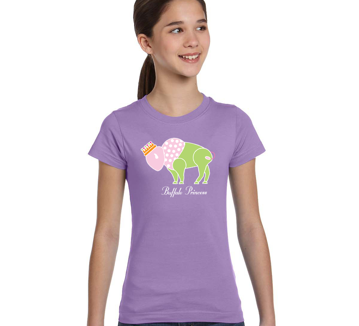 Buffalo Princess T-shirt by Marinette Kozlow (Youth ...