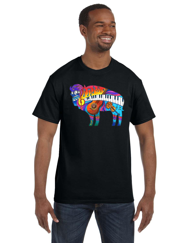 Buffalo music unisex t shirt by dan predmore inspired for Custom t shirts buffalo ny