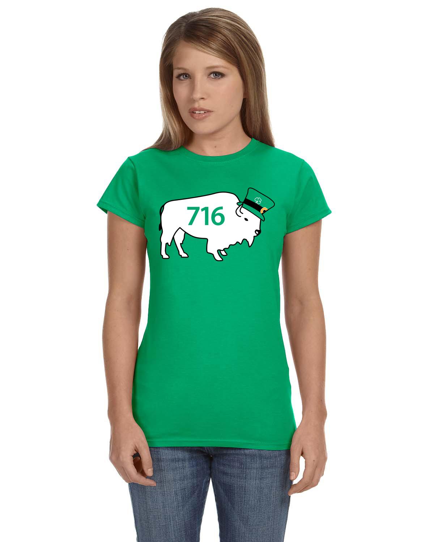 716 buffalo leprechaun by marinette kozlow women 39 s for Custom t shirts buffalo ny