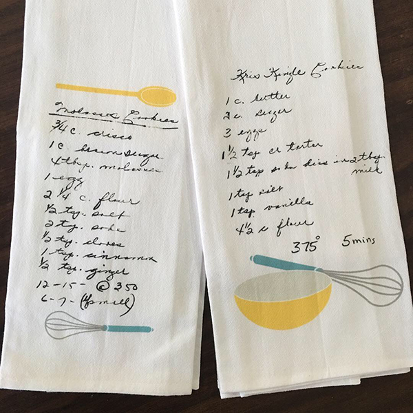 Heirloom Recipe Tea Towels